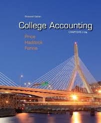 College accounting : chapters 1-30Price, John Ellis. - 2012